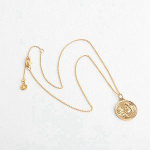 Tory Burch Gold Josephine Dove Bird Coin Pendant